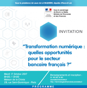 """Colloque """"Transformation numérique: quelles opportunités pour le secteur bancaire français ?"""" @ Maison de la chimie   Paris   Île-de-France   France"""